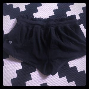 Lululemon black comfy shorts size 2
